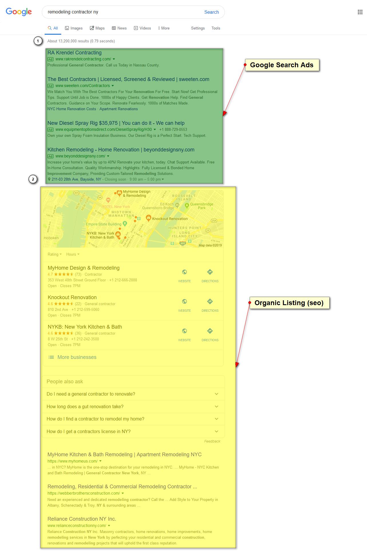 seo vs google search ads